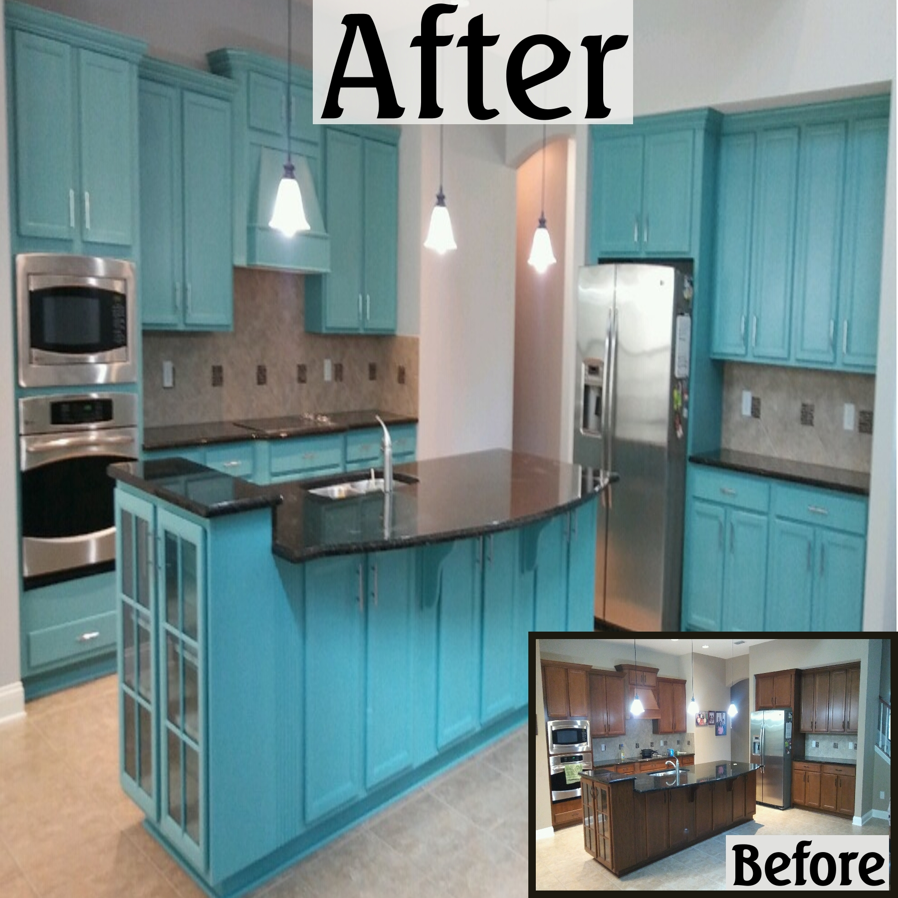 Kitchen Cabinet Painting Jacksonville FL: Don\'t replace when you can ...