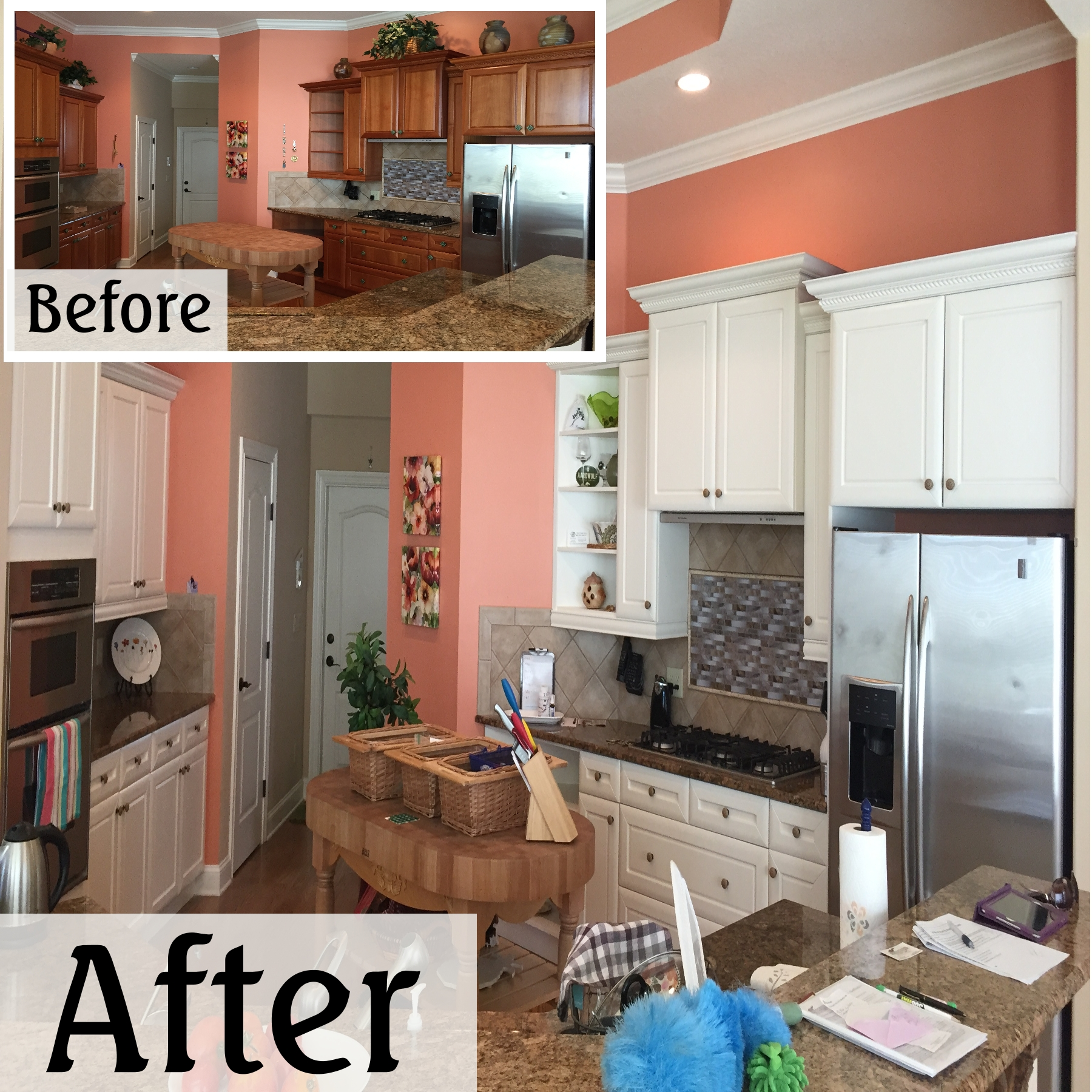 Kitchen Updates Before And After: Straight Edge Painting